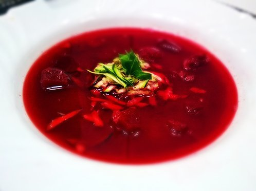 Spicy Vegan Beet Soup