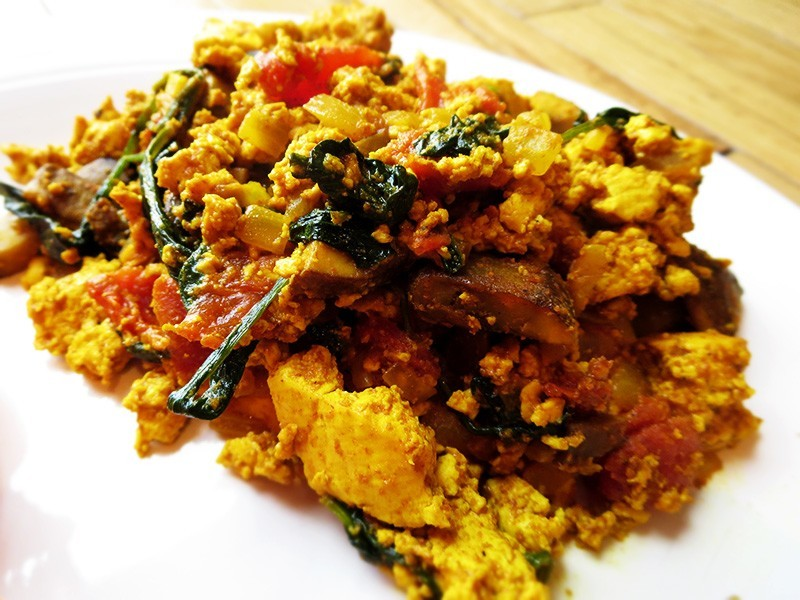 Tofu scramble, perfect for breakfast or a light lunch