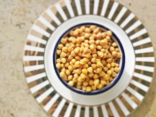 Chickpeas, full of vegan friendly protein